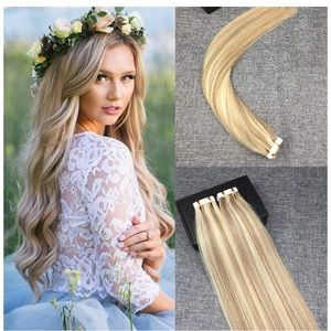 NIB! 20inch Highlighted Tape in Hair Extensions